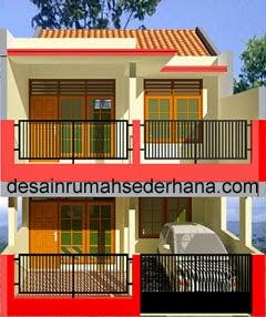 desain rumah minimalis 2 lantai luas tanah 72m2 - gambar