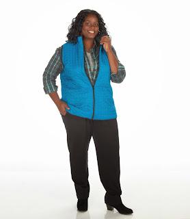 JunoActive Plus Size Reversible Quilted Vest
