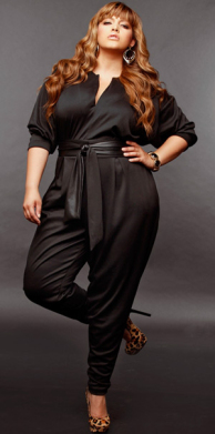 enterizo negro plus size