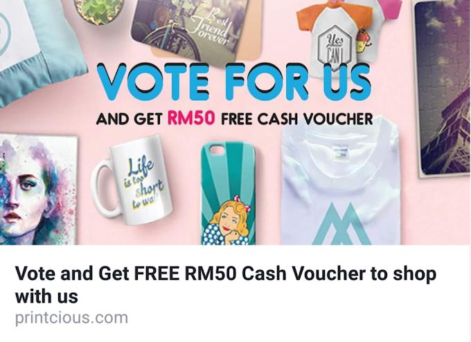 Cara Mudah dan Senang untuk dapatkan Voucher RM50 dari Printcious