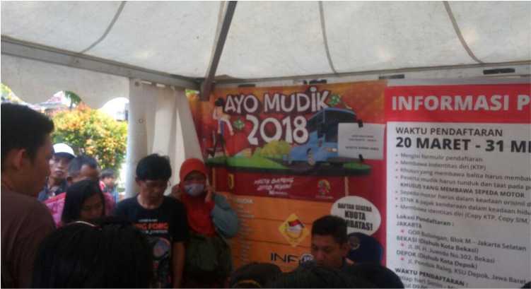 Suasana Pendaftaran Mudik Gratis Gor Bulungan Jakarta Selatan Terkendala Printer Rusak, Miskom Vendor dan Panitia