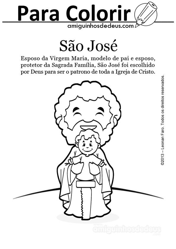 Sao Jose Desenho Para Colorir