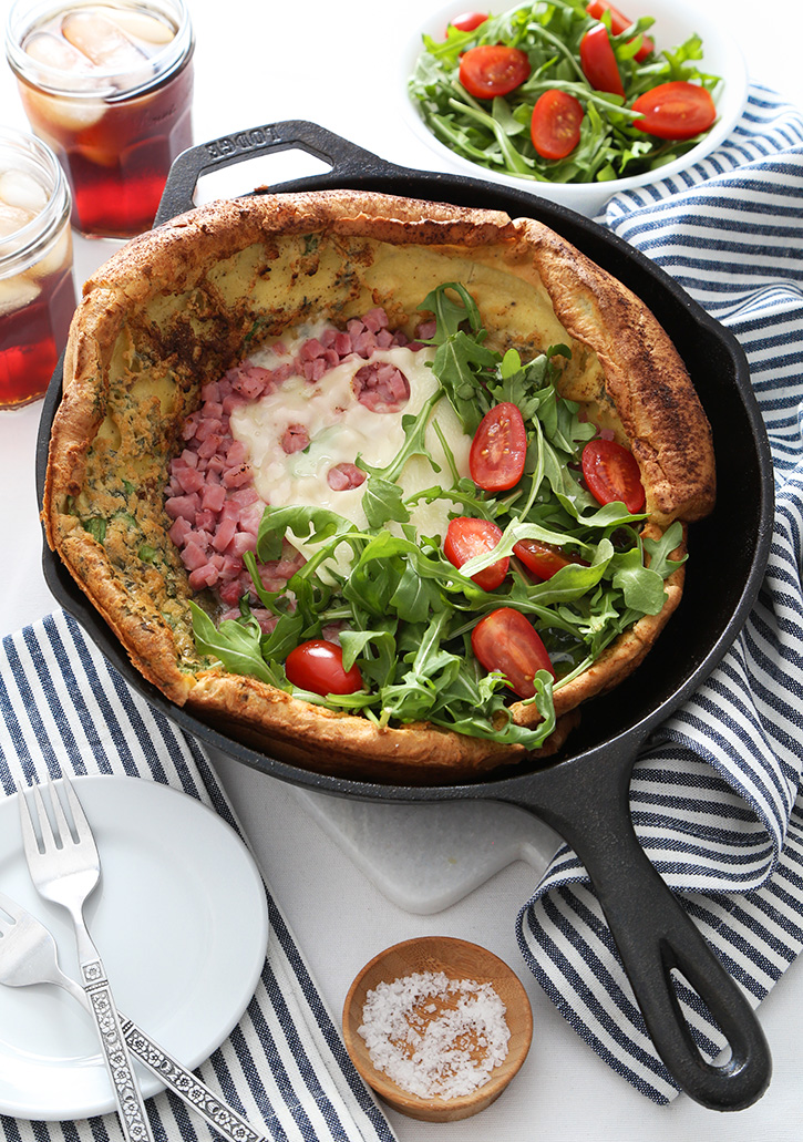 Ham and Swiss Dutch Baby Recipe
