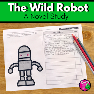 The Wild Robot integrates many science concepts into a story about Roz the robot. This novel study included reading comprehension questions, vocabulary, and lessons for the story elements.