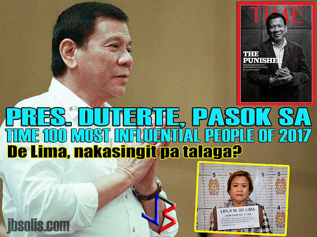 "After winning the Time Magazine Readers' Poll on who should be included in their annual list of 100 Most Influential People in the World, beating out US President Donald Trump, UK Prime Minister Theresa May and Canada's PM Justin Trudeau, Philippine President Rodrigo Duterte is finally featured in the famous list.  Time Magazine editors however chose the opportunity to politicize the situation and hit the Philippine President over his controversial War on Drugs by choosing Former Colombian President César Gaviria to write the profile article of Duterte, and why he is included in the list. Gaviria has criticized Duterte before.  With Gaviria as its mouthpiece, Time Magazine focused on Duterte's War on Drugs, painting a grim picture that is not reflective of the actual situation in the Philippines. They instead chose to repeat accusations and false statistics that Duterte's critics have continued to spew via different media entities. Gaviria's words are quoted below: ""Hitler massacred 3 million Jews. Now there are 3 million drug addicts. I'd be happy to slaughter them,"" Rodrigo Duterte, the Philippines' President, has said. His approach is as ill considered as his grasp of history (more than half of Hitler's 11 million victims were Jewish). Since Duterte's inauguration last year, some 7,000 people have been killed. His ironfisted strategy alarms governments, human-rights organizations and faith-based groups while winning high approval ratings at home.  When I was President of Colombia, I was also seduced into taking a tough stance on drugs. But after spending billions, I discovered that the war was unwinnable and the human costs were devastating. The cure was infinitely worse than the disease.  There are solutions that work. Duterte could start by treating drugs as a health, human rights and development issue. He could prosecute the most violent criminals and provide treatment for users rather than condemn them to prison, or worse. There will always be drugs in the Philippines, whether the President likes it or not. The tragedy is that many more people are likely going to die as he learns this lesson. Looking at the background of Cesar Gaviria, one would think it ironic that Time Magazine chooses the former leader of a country infamous for being the number one source of illegal drugs in America. In 2013, Colombia was the number one producer of Cocaine in the world. While that number is lower now, 60% of the world's cocaine come from Colombia.  Gaviria himself became controversial after it was discovered that his government had a secret agreement with Drug Kingpin Pablo Escobar. Escobar agreed to surrender to authorities and serve a maximum term of five years, and the Colombian government would not extradite him to the United States. In addition, the prison to house him, La Catedral, was built to Escobar's specifications. Escobar was also given the right to choose who would guard him, and it was believed he chose guards loyal only to him. Moreover, the prison was believed to have been designed more to keep out Escobar's enemies and protect him from assassination attempts, than to keep Escobar in. The finished prison was often called ""Hotel Escobar"" or ""Club Medellín"", because of its amenities. La Catedral featured a football pitch, giant doll house, bar, jacuzzi, and waterfall. It is also interesting to note that Gaviria is the head of the Liberal Party of Colombia. He became a replacement presidential candidate after the original candidate died (assasinated by drug cartels).  During his single, four-year term, he led a failed peace deal with Colombian FARC rebels. During his term, the Colombian Constitution was replaced. Part of the main change is the ban on extradition of Colombian citizens, likely influenced by Cartel bosses who are avoiding extradition to the US. His only ""victory"" in the Colombian Drug War was the killing of Pablo Escobar. Some believe that it was done to silence the drug kingpin forever.  Duterte's Real Accomplishment in the War on Drugs Never included in the article written about President Duterte were the massive accomplishments in the War on Drugs. There was no mention of the hundreds of thousands of drug users and pushers who surrendered and are now the the mega-rehab centers that the government built for them. De Lima is in the List too? Adding insult to the negative portrayal of President Duterte, Time Magazine included his most vocal critic, and accused drug lord protector, Senator Leila De Lima in the list. Placed under the ""Icons"" category, De Lima is being portrayed as the only voice brave enough to oppose the President's brutal carckdown. A former human rights lawyer, De Lima is in prison after being tagged by several drug lords for receiving drug money and turning a blind eye, and in fact encouraging their continued illegal operations, while providing them cozier prison houses called ""kubols."" Sounds a lot like that Colombian president's deal with Escobar. Her Time Magazine profile was written by Samantha Jane Power, a fellow human rights advocate with extreme views. She (again) used Duterte's Drug War, painted as an assault on human rights, to give credence to De Lima being included in the list. Samantha Jane Power, was a former UN Ambassador to UN, and was once a campaign adviser to Barrack Obama. She resigned after calling then candidate Hillary Clinton a ""monster"". She was criticized for wanting to deploy the United States armed forces to combat human rights abuses in other countries, contrary to the idea that the main purpose of the military is for national defense. Russian diplomats call her a stabilizer of countries not allied to the US.   Missing in the profile she wrote were the several cases that De Lima is facing, as well as the controversial private details of her amorous relationships with several of her bodyguards.   Netizens slammed the inclusion of De Lima in the list. No one really believes why she is considered an icon. Among the comment include these screenshots:"
