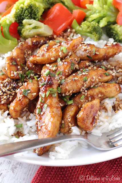 Low-FODMAP Sesame Chicken  /  Delicious as it Looks