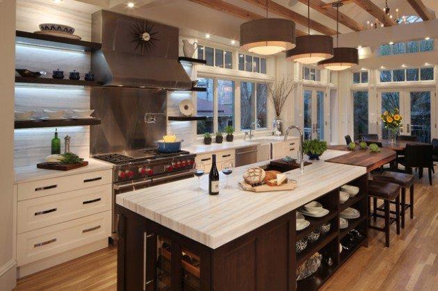 open plan kitchen designs with island