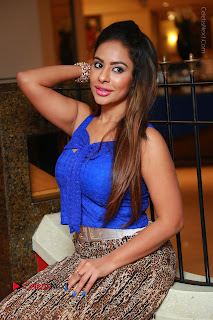 Telugu Actress Srilekha Reddy Latest HD Pos in Sleeveless Blue Top at Muse Art Gallery  0079.JPG