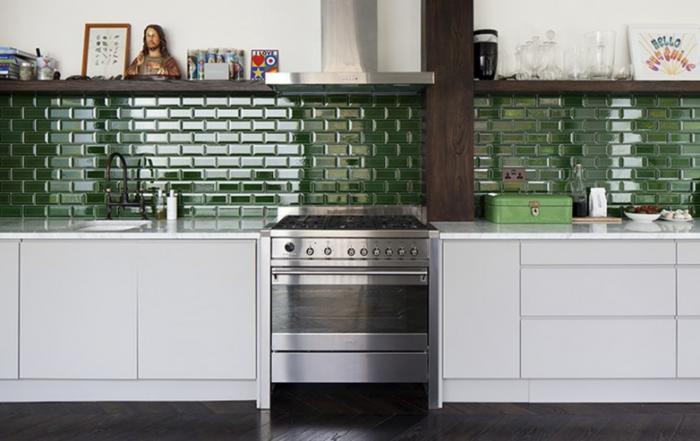 Dark Green Tiles For Kitchen Backsplash