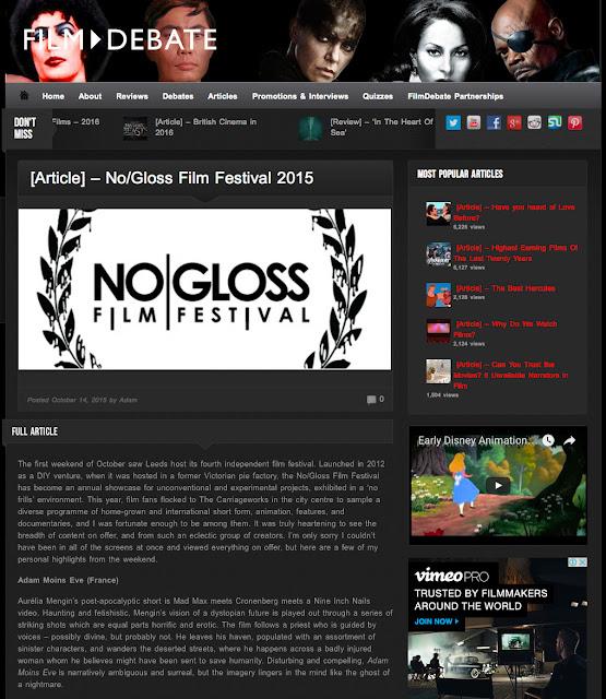 Aurélia Mengin et son film Adam Moins Eve chroniqué sur le site FILM DEBATE