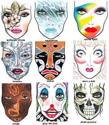mac cosmetics halloween face charts 2009