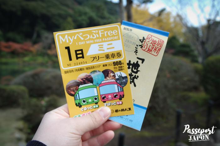 1Day mini free passport et carnet de tickets pour les enfers de Beppu