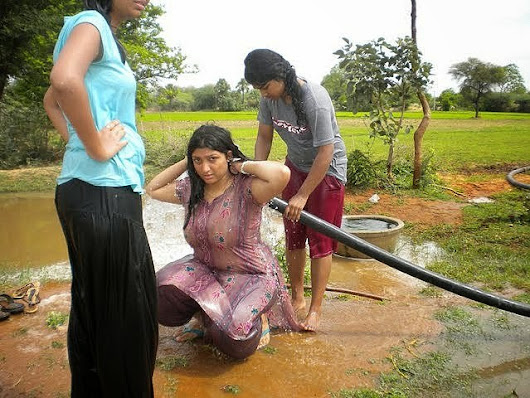Indian girls in wet dress-5970