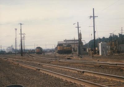 Union Pacific's Albina Yard in Portland, Oregon, on July 13, 1997