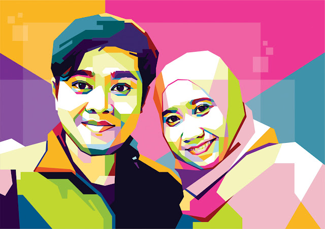 WPAP Couple Fariz & Wife (Versi 2)
