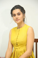 Taapsee Pannu looks mesmerizing in Yellow for her Telugu Movie Anando hma motion poster launch ~  Exclusive 030.JPG