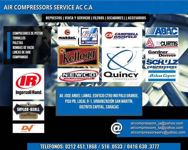 AIR COMPRESSORS SERVICE AC, C.A. en Paginas Amarillas tu guia Comercial