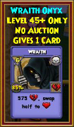 Wraith - Wizard101 Card-Giving Jewel Guide