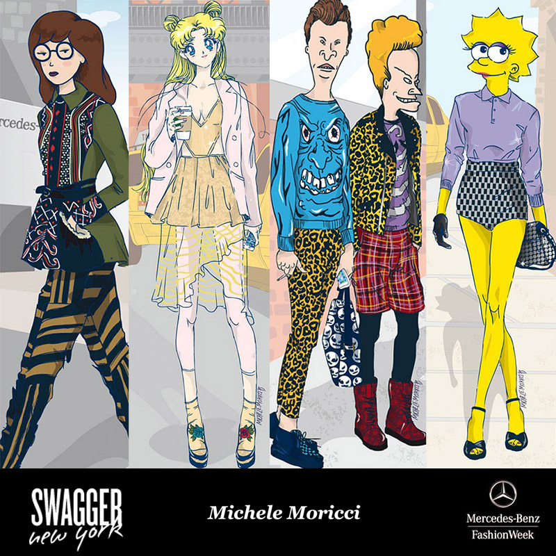 Cartoon Characters Dressed In High Fashion
