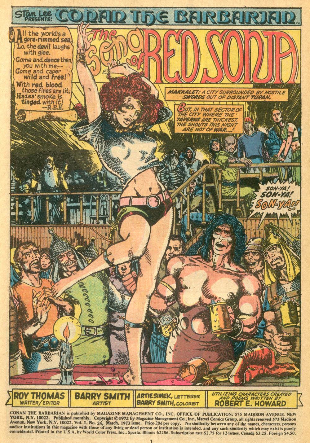 Conan the Barbarian (1970) Issue #24 #36 - English 2