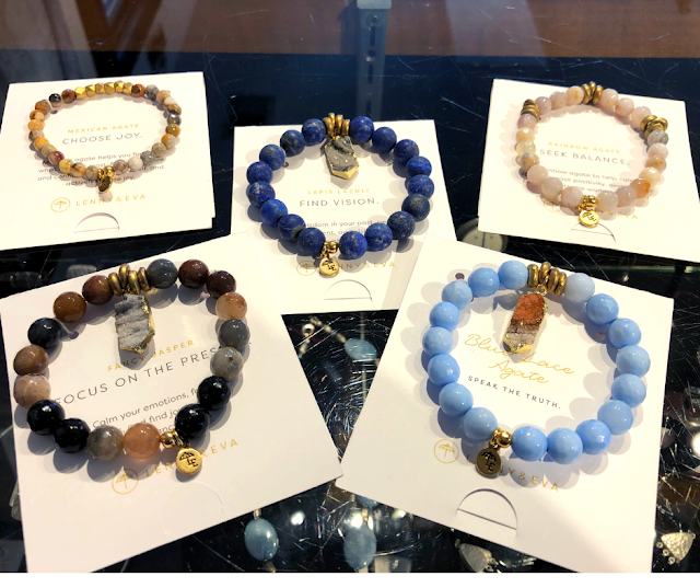 Gem and mineral bracelets with a special message