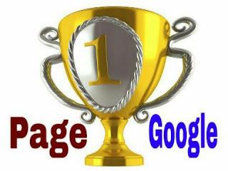 halaman satu google tempat persaingan