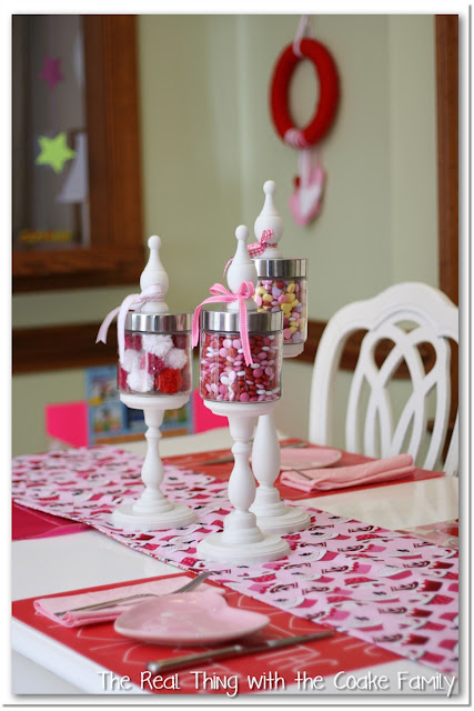 Decorating for Valentine's ~ Our Table