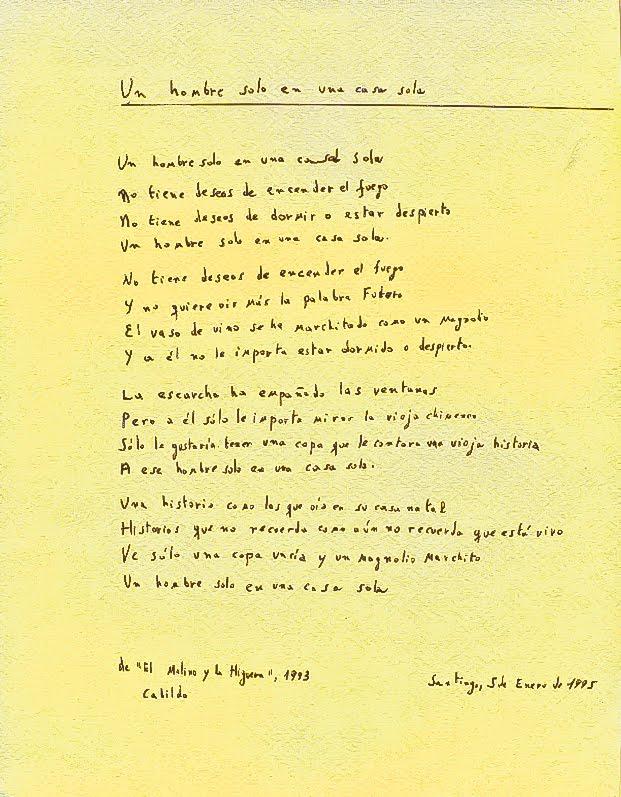 poema a un hombre solo