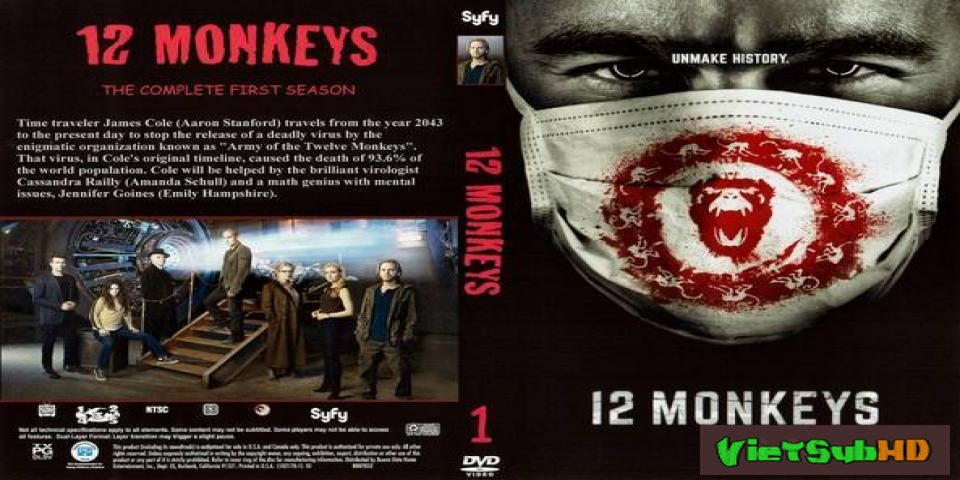 Phim 12 Con Khỉ Phần 1 Hoàn Tất (13/13) VietSub HD | 12 Monkeys Season 1 2015