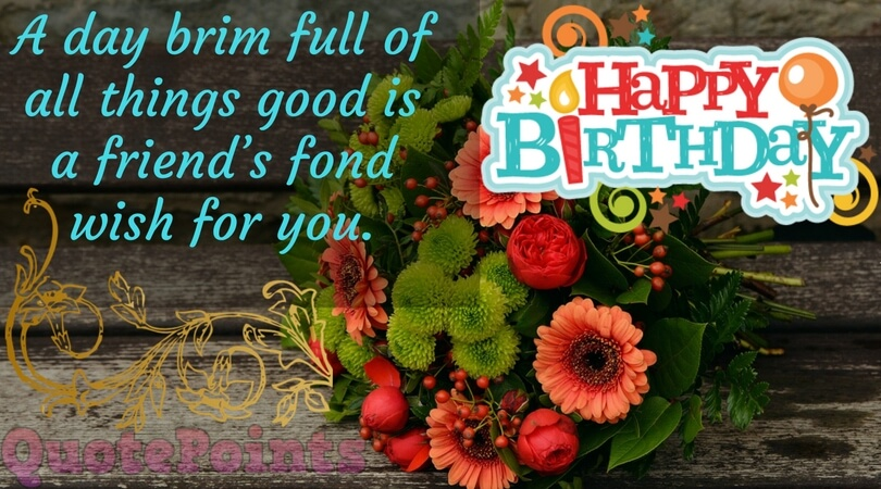 inspirational birthday message for a special friend