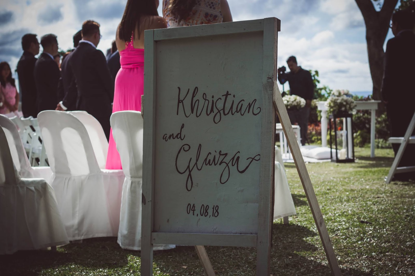 wedding decoration calligraphy of couple names