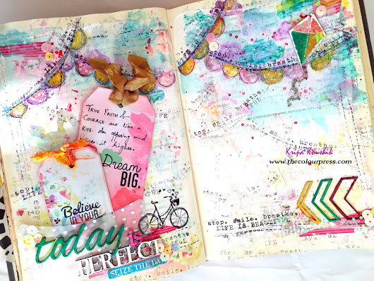 Video Hop with us & Giveaway : Art journal in my altered book