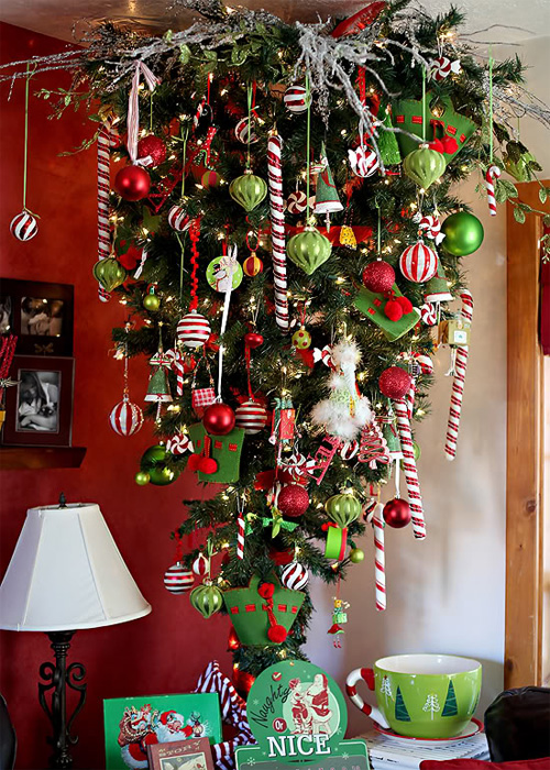 Cool Christmas Trees.How To Recycle Cool Upside Down Christmas Trees