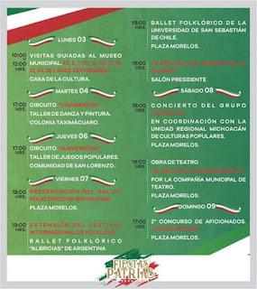 fiestas patrias uruapan 2018