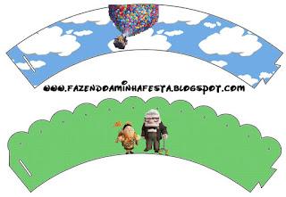 Fiesta de Up: Wrappers y Toppers para Cupcakes para Imprimir Gratis.