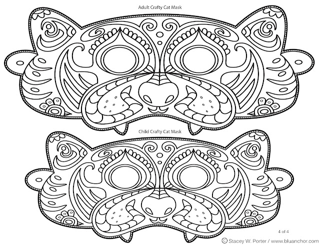 Coloring pages halloween masks ~ The Art of Stacey W. Porter: Free Halloween Printable ...