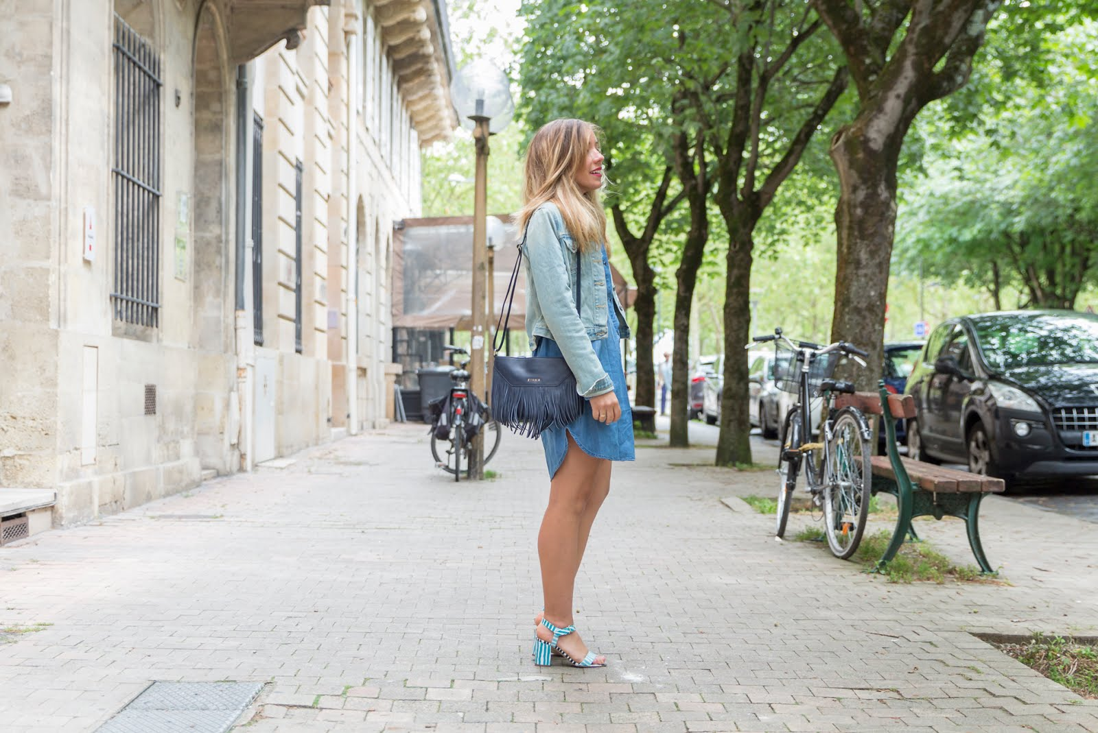Total look bleu jean printemps