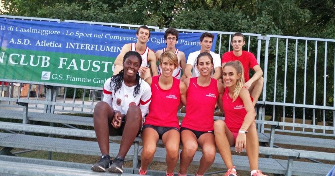 Record valdostano 4x200 maschile e femminile a Casalmaggiore nel Mennea Day