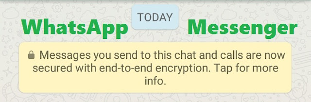 WhatsApp end-to-end encryption : Messages you send to this chat and calls are now secured with end-to-end encryption. Tap for more info.