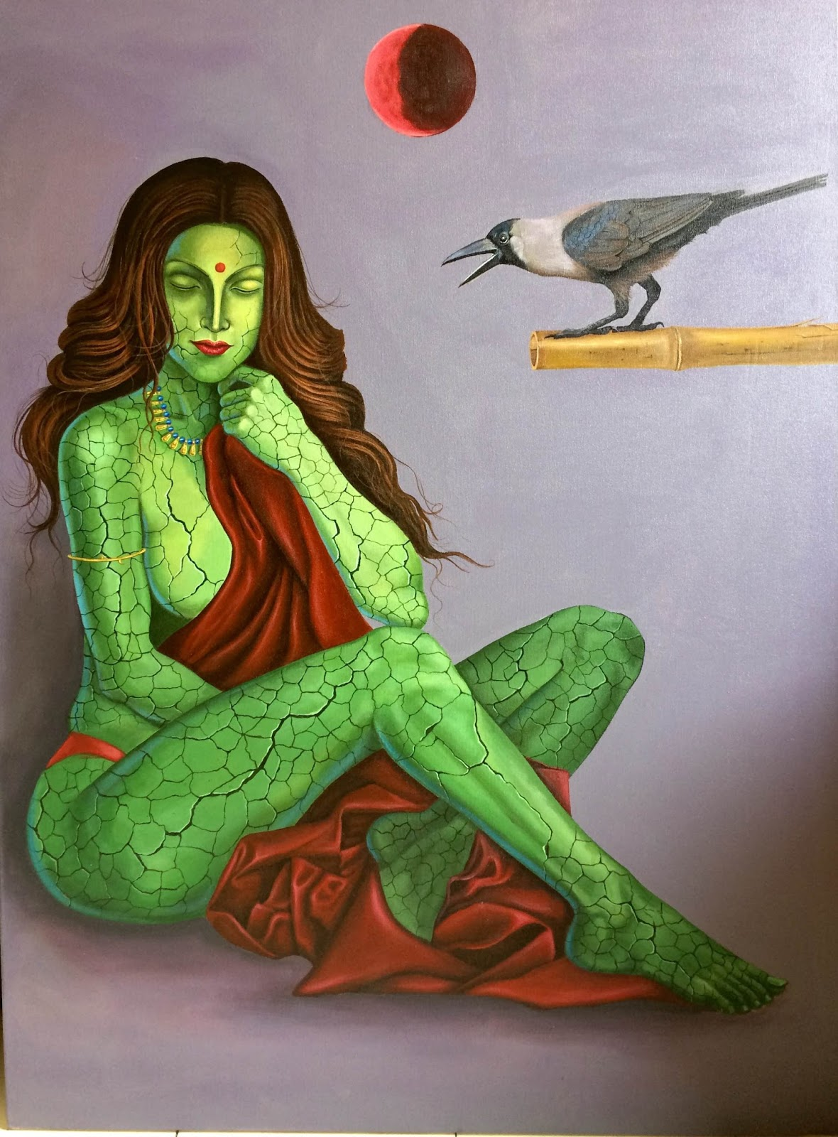Saaib Raza Is An Artist Based In New Delhi India Growing Negativity Humanity The Main Concept His Paintings