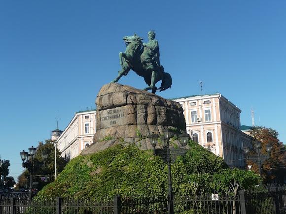 Киев. Памятник Богдану Хмельницкому. 1888 г.