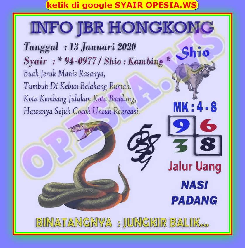 Kode syair Hongkong Senin 13 Januari 2020 2