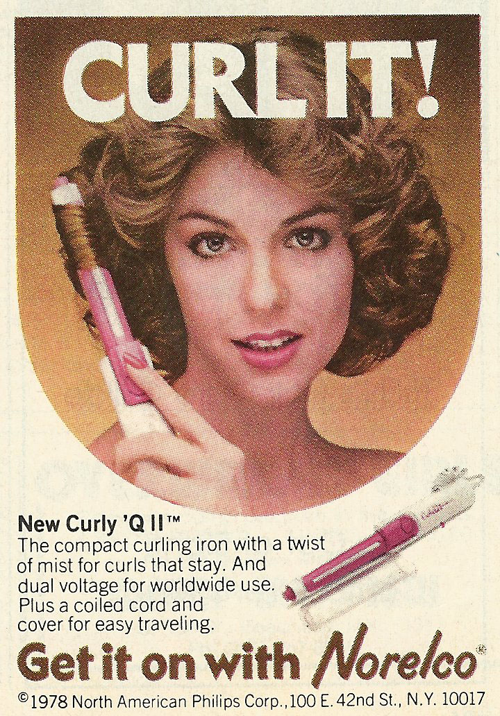 Old Ads Are Funny 1978 Ad Norelco Curley Q Ii