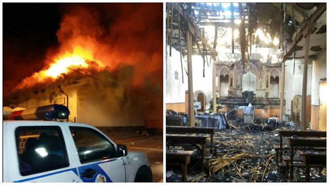 iglesia de tumbaco incendio