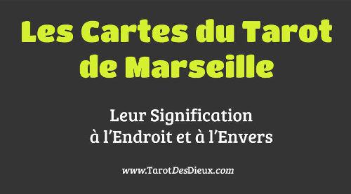 La diapositive pour l'article sur les cartes du tarot de Marseille