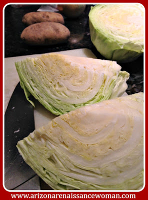 Cabbage and Potatoes for Bangers and Mash Tacos