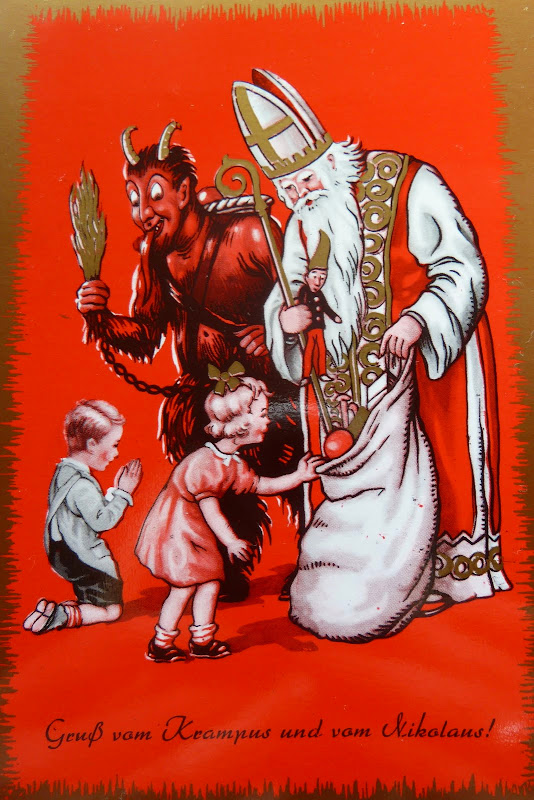 Krampus and Saint Nicholas (Santa Claus)