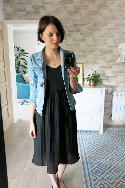 Czarna sukienka   Black pleated dress