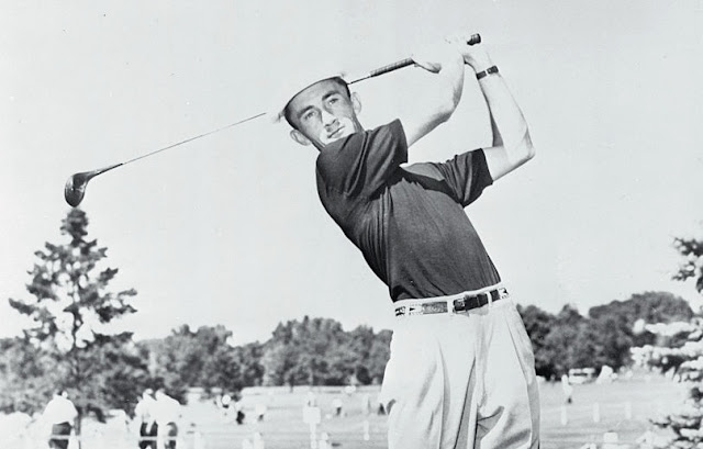 Golfer Gardner Dickinson in a Wilson Sporting Goods publicity photo from the 1950s
