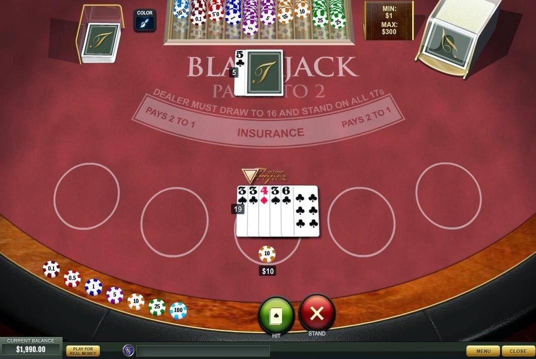 Casino Tropez Blackjack Screen
